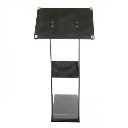カーボン展示スタンド (サイズ:S)「メタルプレート付き」