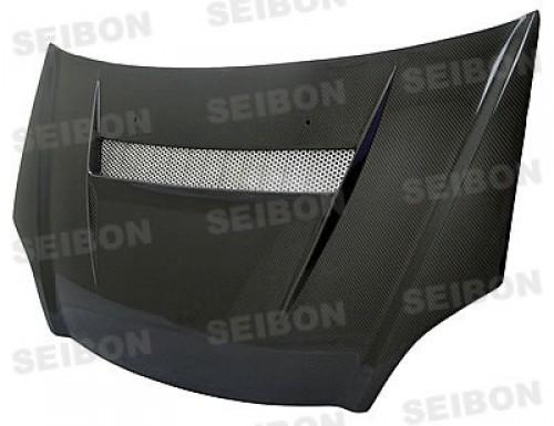 2002年~2005年ホンダ・シビック SI 平織りカーボンボンネット VSII-スタイル