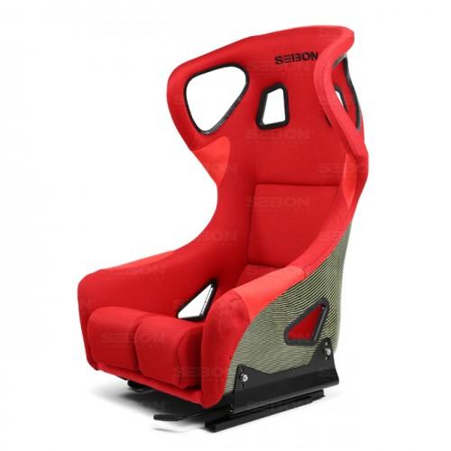 カーボンケブラー フルバケットレーシングシート タイプーFC レッド/ブラックロゴ