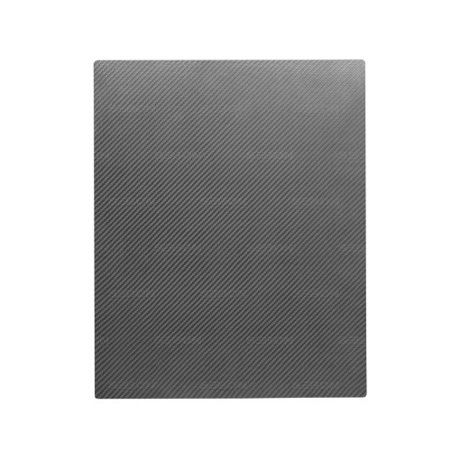 "Single-layer carbon fiber pressed sheet- 15 3/4"" x 19 1/2"""