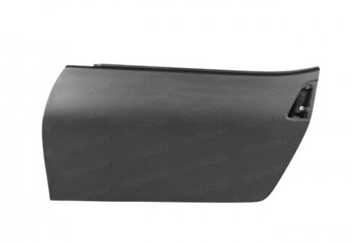 2009~2012年 日産 370Z ドライカーボンドア 純正形状 (マットフィニッシュ) 【注:本製品は競技用部品です】