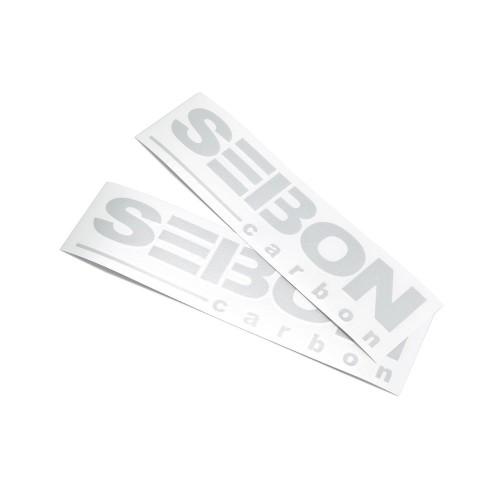 SEIBON CARBON ロゴステッカー - 反射シルバー