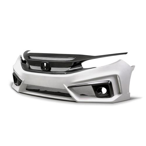2016年~2018年ホンダ・シビック セダン ガラス繊維/カーボンフロントバンパー TTスタイル