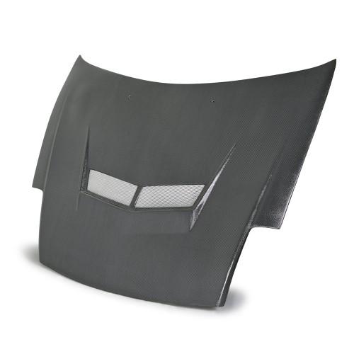 2000~2005年 三菱 エクリプス カーボンボンネット VSII-スタイル (シルバーウィーブタイプ)