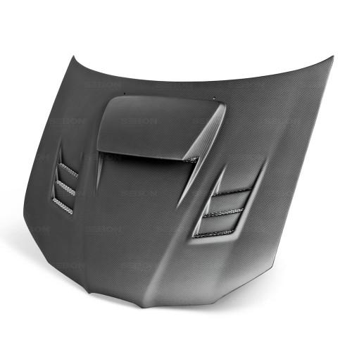 2006年~2007年スバル・インプレッサ / WRX / STI ドライカーボンボンネット CWII-スタイル*