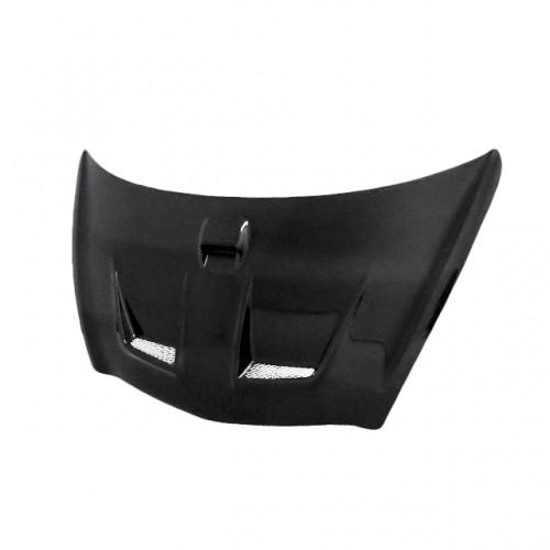 MG-style carbon fiber hood for 2003-2008 Honda Jazz (JDM) (straight weave)