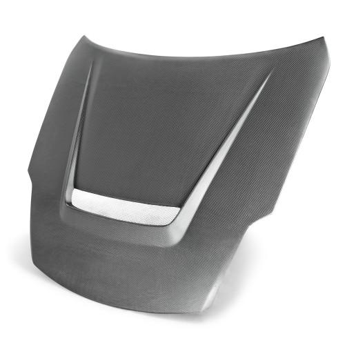 2007~2008年 日産 350Z カーボンボンネット VSII-スタイル (マットフィニッシュ)(also fits 2002-2006 models)