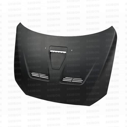 2008~2010年 三菱 ランサーエボリューションX ドライカーボンボンネット 純正形状 (マットフィニッシュ)
