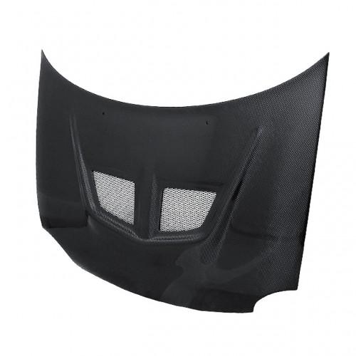 EVO-style carbon fiber hood for 1994-1999 Dodge Neon (straight weave)